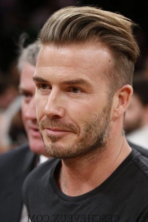 Coiffure undercut style Quiff David Beckham