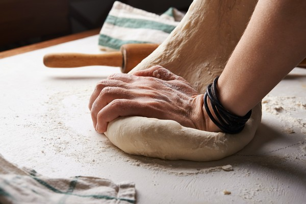 Pate à pain pétrie
