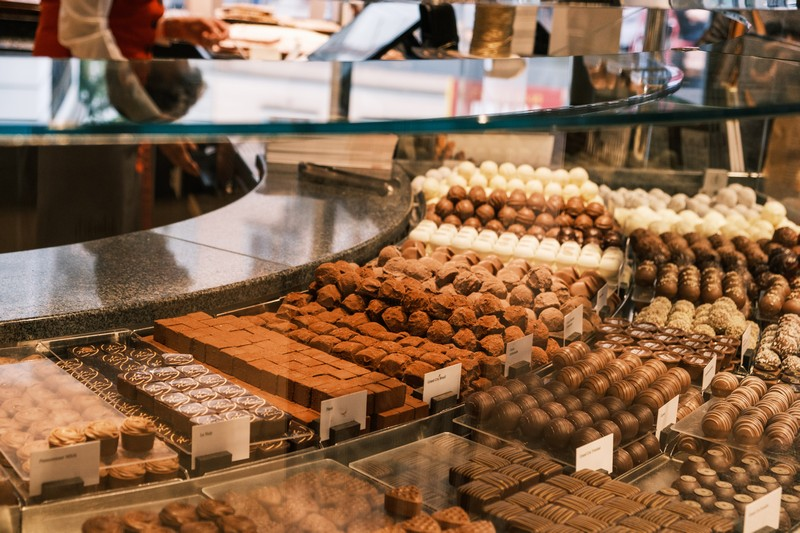 vitrine d'un chocolatier